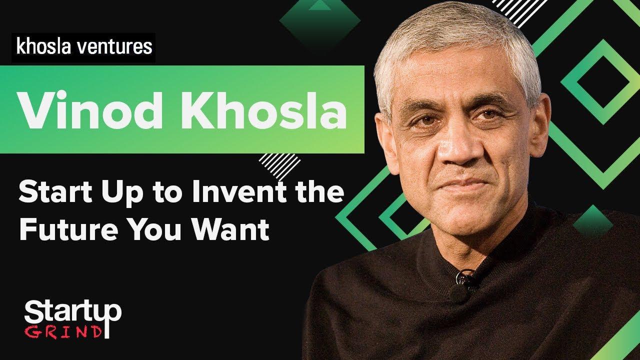 Vinod Khosla speaking at Startup Grind