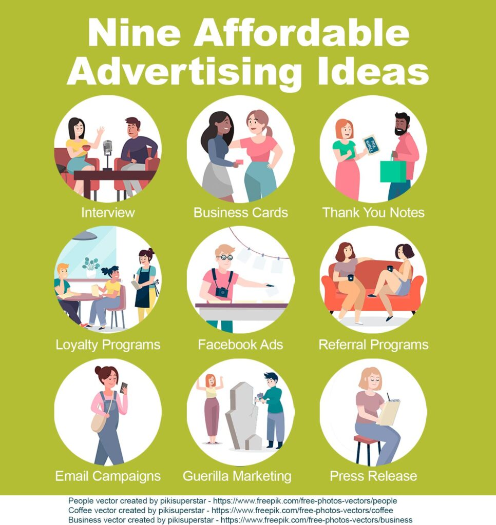 Nine affordable advertising ideas