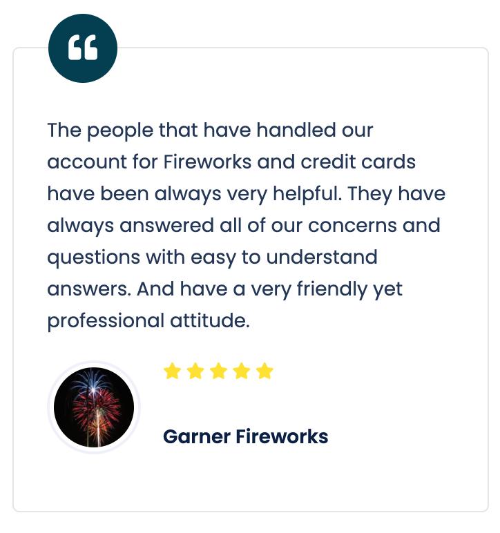 Garner Fireworks review