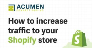 """""""How to increase traffic to your Shopify store"""""""