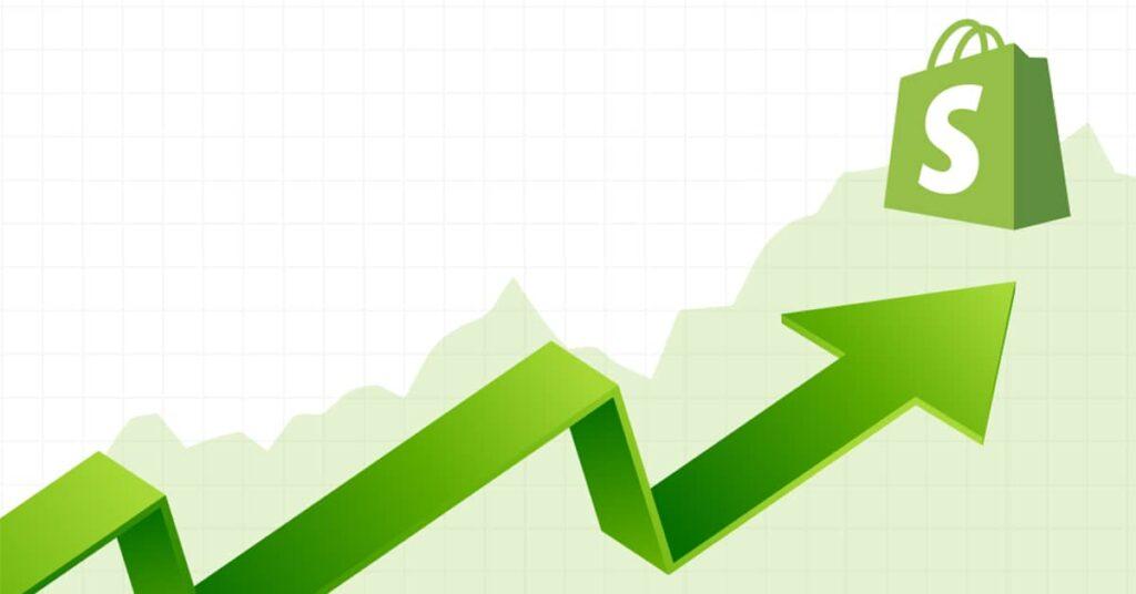Green trend arrow improving