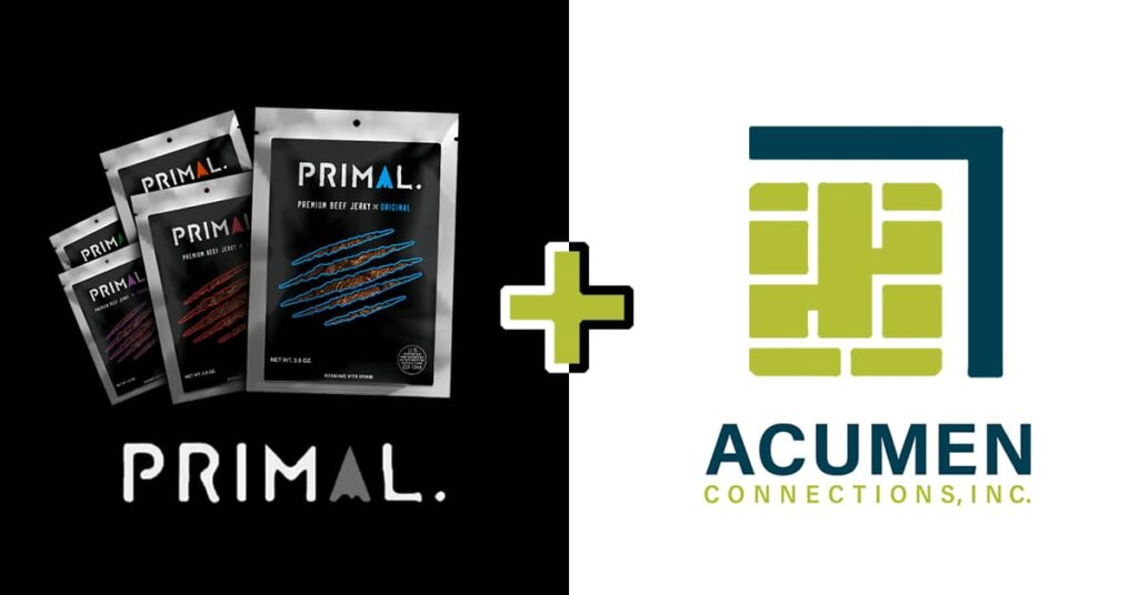Primal logo + Acumen Logo on white & black background