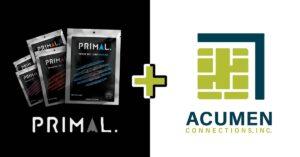 Primal logo + Acumen Logo on white & black background