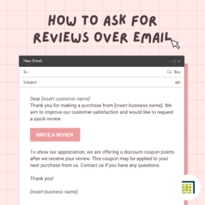 Screenshot of email on pink background. Gray text says